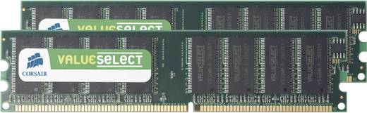 Corsair ValueSelect VS2GBKIT400C3 2 GB DDR-RAM PC-werkgeheugen kit 400 MHz 2 x 1 GB
