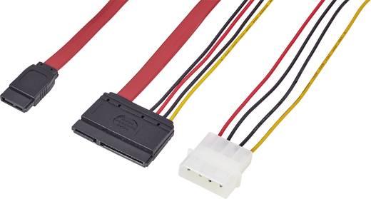 Harde schijf Aansluitkabel [1x SATA-bus 7-polig, IDE-stroomstekker 4-polig - 1x SATA-combi-bus 15+7-polig] 0.50 m Zwart, Rood, Geel