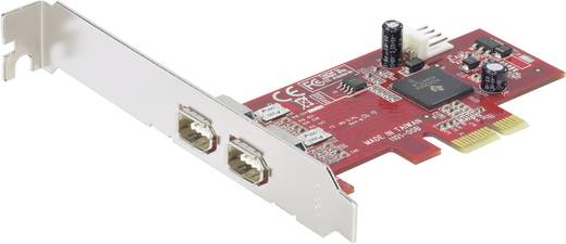 2 poorten FireWire 400-controllerkaart PCIe