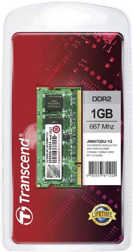 Transcend JetRam JM667QSU-1G 1 GB DDR2-RAM Laptop-werkgeheugen module 667 MHz 1 x 1 GB