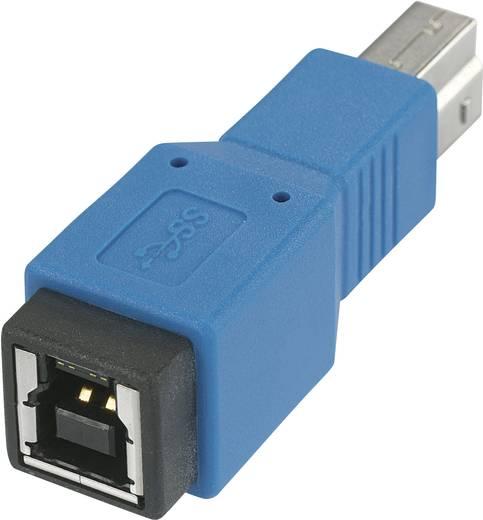 USB 3.0 Adapter [1x USB 3.0 stekker B - 1x USB 3.0 bus B] Blauw