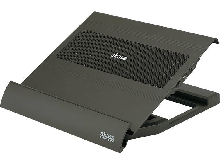 Akasa AK-NBC-09 Laptop cooling-pad In hoogte verstelbaar, Regelbare ventilator, USB-hub functie