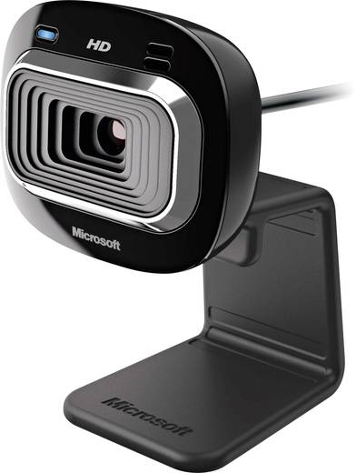 HD-webcam 1280 x 720 pix Microsoft LifeCam HD-3000 Standvoet, Klemhouder