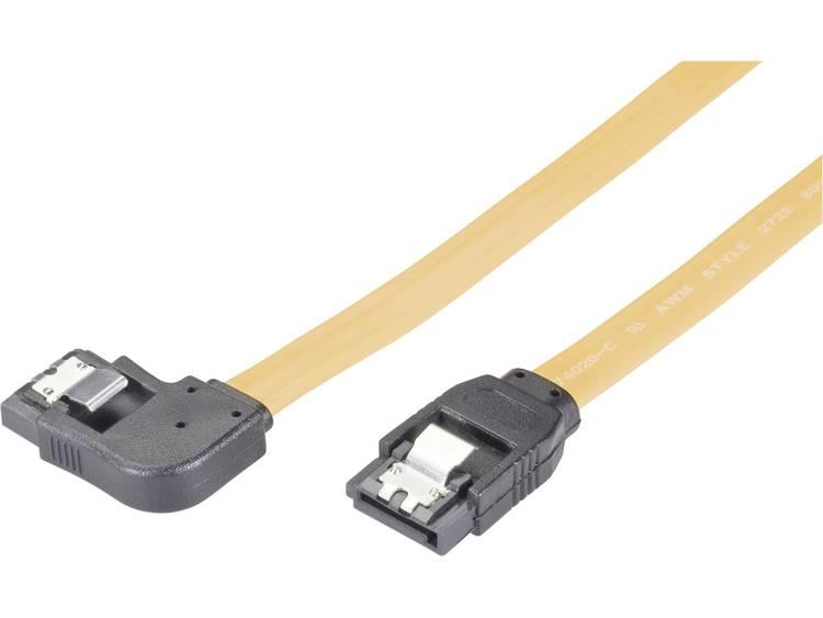 Harde schijf Aansluitkabel [1x SATA-bus 7-polig 1x SATA-bus 7-polig] 0.50 m Geel