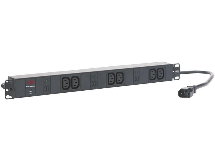 AEG Power Solutions PDU 10-1 19 inch Patchkast-stekkerdoos 1 HE Apparaatcontactdoos C13 10A Zwart