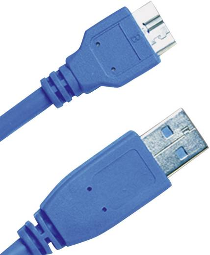USB 3.0 aansluitkabel A/micro-B 2 m blauw