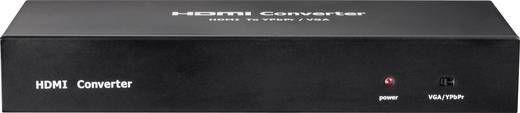 HDMI zu VGA/Component AV Converter HDMI, Cinch, VGA [1x HDMI-bus - 5x Cinch-koppeling, VGA bus, Toslink-bus (ODT)] 1600 x 1200 pix Zwart