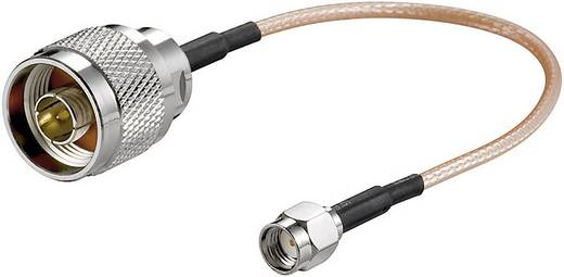 Goobay WiFi-antenne Aansluitkabel [1x N-stekker - 1x RP-SMA-stekker] 0.15 m Transparant