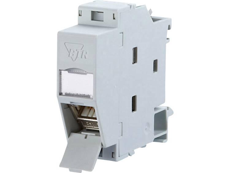 Netwerkdoos DIN-rails CAT 6A Metz Connect 130B117003-E Lichtgrijs (RAL 7035)