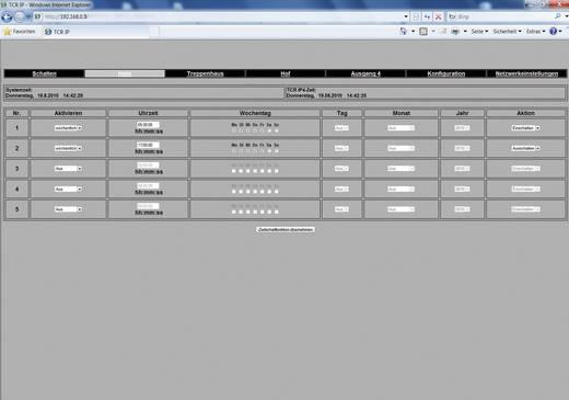 Rutenbeck TCR IP 4 afstandsbediening/schakelklok-contactdoos TC IP 4