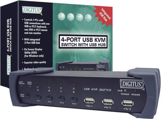 Digitus DC-12201-1 4 poorten KVM-schakelaar VGA USB, PS/2 1920 x 1440 pix