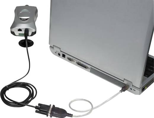 Manhattan USB 1.1 Adapter [1x USB 1.1 stekker A - 1x D-sub stekker 9-polig] 0.45 m Grijs Vergulde steekcontacten