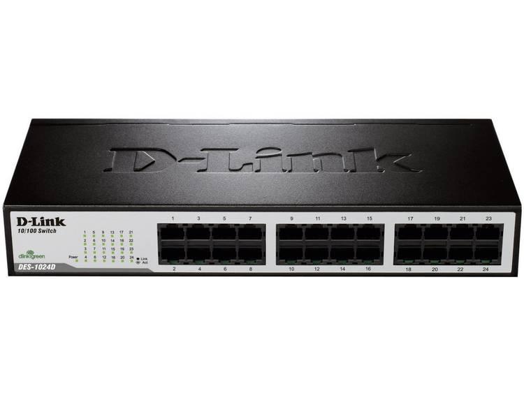 D-Link DES-1024D Netwerk switch RJ45 24 poorten 100 Mbit/s