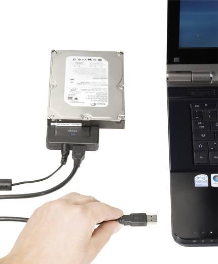 Akasa Harde schijf Adapter [1x USB 3.0 stekker A - 1x SATA-combi-stekker 15+7-polig] 1 m Zwart