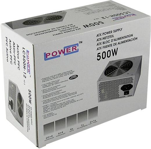 LC-Power LC500H-12 PC netvoeding 500 W ATX Zonder certificering