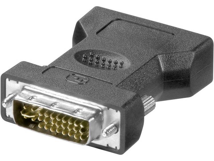 Goobay DVI - VGA Adapter [1x DVI-stekker 24+5-polig - 1x VGA-bus] Zwart