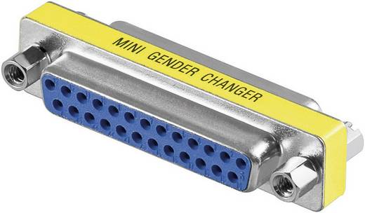 Goobay Parallel Adapter [1x D-sub bus 25-polig - 1x D-sub bus 25-polig] Geel