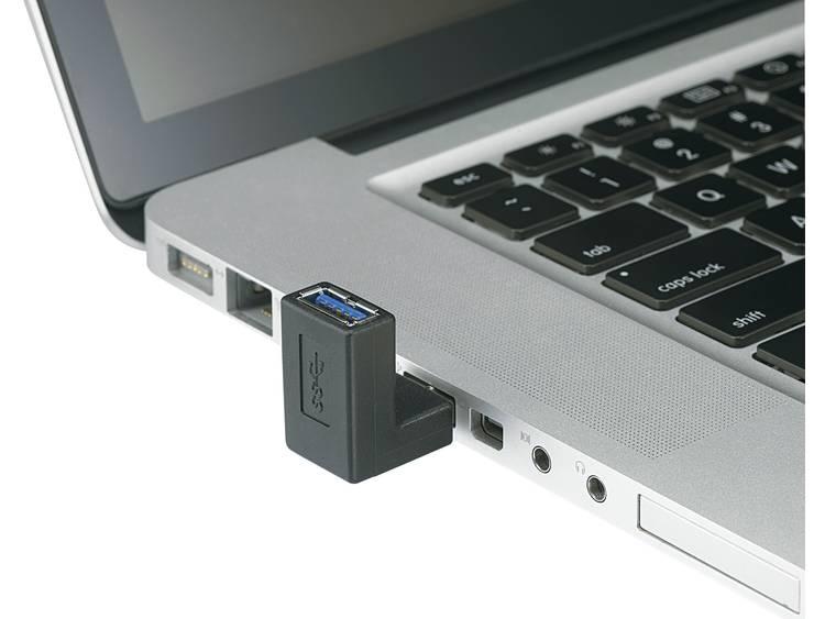 Renkforce USB 3.0 Adapter [1x USB 3.0 stekker A 1x USB 3.0 bus A] Zwart