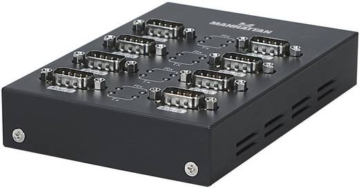 Manhattan USB 2.0 Adapter [8x D-sub stekker 9-polig - 1x USB 2.0 bus B] Zwart