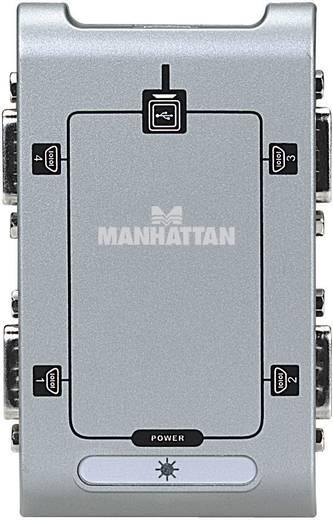 Manhattan USB 2.0 Adapter [4x D-sub stekker 9-polig - 1x USB 2.0 bus B] Zilver