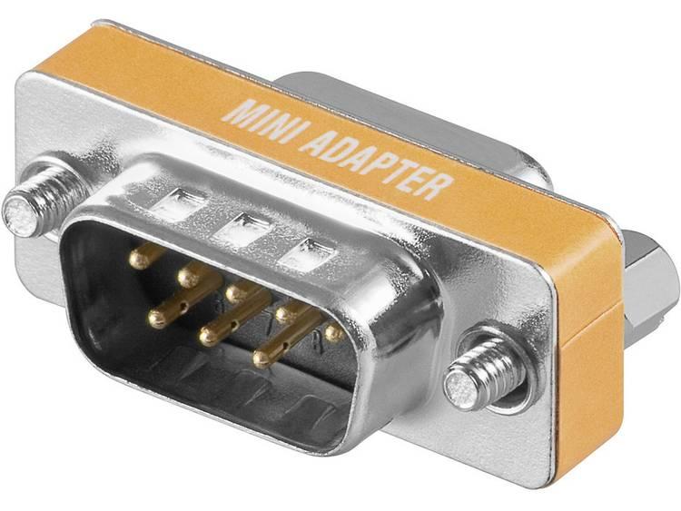 Goobay Serieel Adapter [1x D sub stekker 8 polig 1x D sub bus 9 polig] Oranje