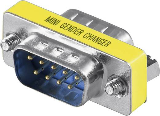 Goobay Serieel Adapter [1x D-sub stekker 9-polig - 1x D-sub stekker 9-polig] Geel