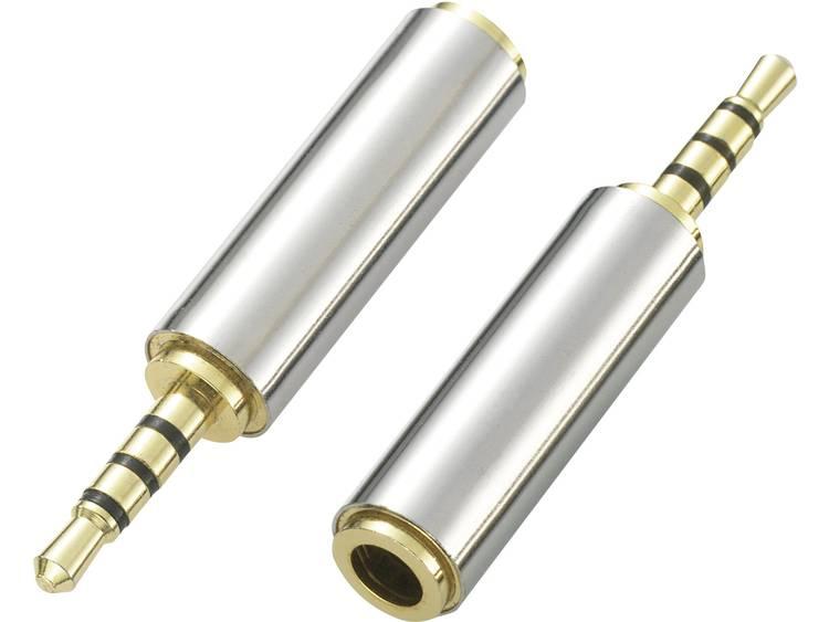 SpeaKa Professional Jackplug Audio Adapter [1x Jackplug male 2.5 mm - 1x Jackplug female 3.5 mm] Zilver