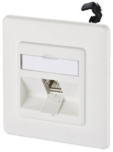 Netwerkdoos Inbouw Inzet met centraalstuk en frame CAT 6A 1 poort Metz Connect 130B11D11002-E Zuiver wit