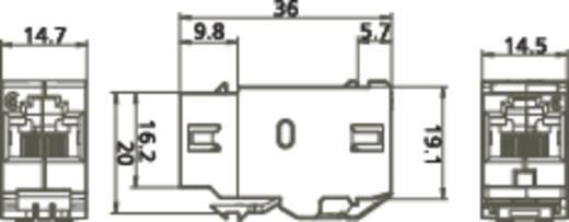 RJ45-inbouwmodule E-Dat CAT 6 Metz Connect 1