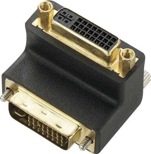 DVI Adapter [1x DVI-stekker 24+5-polig - 1x DVI-bus 24+5-polig] 90° haaks