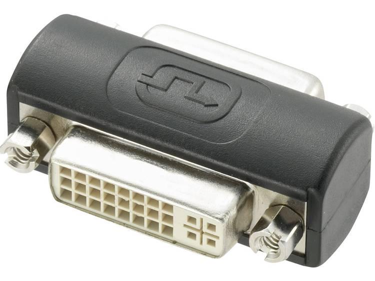 DVI Adapter [1x DVI-bus 24+5-polig <=> 1x DVI-bus 24+5-polig] Zwart
