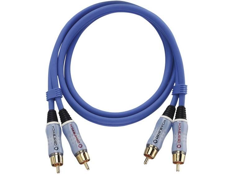 Cinch Audio Aansluitkabel [2x Cinch-stekker 2x Cinch-stekker] 2 m Blauw Vergulde steekcontacten Oehl