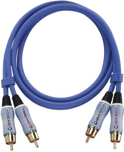 Oehlbach Cinch Audio Aansluitkabel [2x Cinch-stekker - 2x Cinch-stekker] 0.50 m Blauw Vergulde steekcontacten