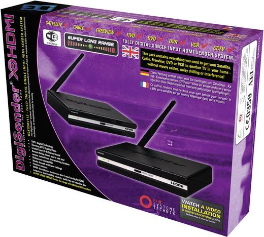 AEI DigiSender DGXDSDV112-EU Draadloze HDMI-set 40 m 2.4 GHz