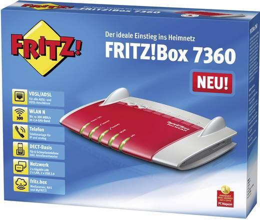 AVM FRITZ!Box 7360 WiFi router met modem Geïntegreerd modem: ADSL, ADSL2+, VDSL 2.4 GHz 300 Mbit/s
