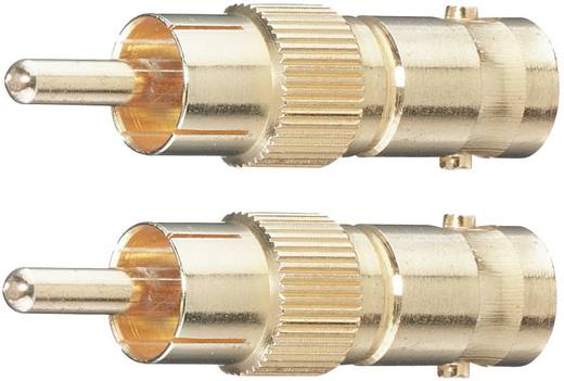 BNC / Cinch Adapter [1x Cinch-stekker - 1x BNC-bus] Goud Vergulde steekcontacten Oehlbach