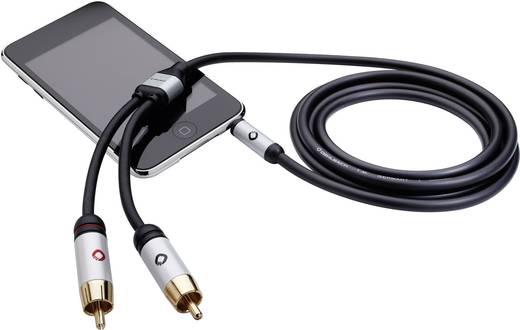 Oehlbach i-Connect Cinch / Jackplug Aansluitkabel Cinch-stekker / Jackplug male 3.5 mm Zwart Stereo