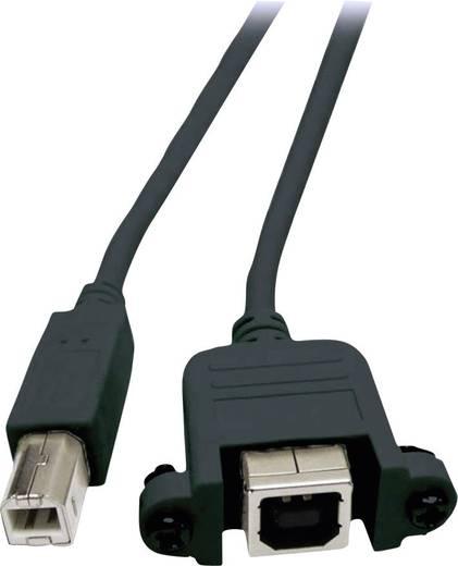 Verlengkabel USB 2.0 EFB Elektronik [1x USB 2.0 stekker B - 1x USB 2.0 bus B] 1.8 m Zwart