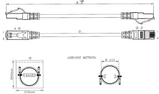 EFB Elektronik RJ45 Netwerk Aansluitkabel CAT 6A S/FTP 20 m Grijs UL gecertificeerd, Vlambestendig, Snagless