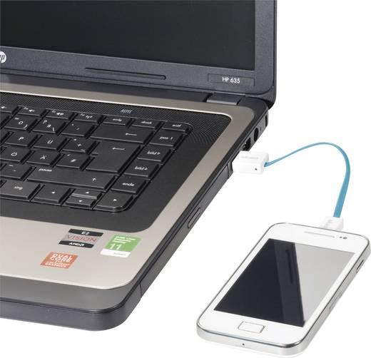 Kabel USB 2.0 Akasa [1x USB 2.0 stekker A - 1x USB 2.0 stekker micro-B] 0.15 m Blauw