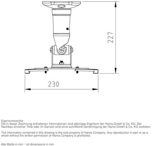 Hama Beamer-plafondbeugel 118610 Wit