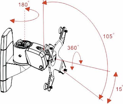 """Monitor-wandbeugel SpeaKa Professional 25,4 cm (10"""") - 81,3 cm (32"""") Kantelbaar en zwenkbaar, Roteerbaar"""