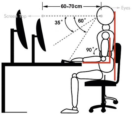"""Xergo Flex 3-voudig met Grommet- en C-klem 3-voudig Monitor-tafelbeugel 25,4 cm (10"""") - 61,0 cm (24"""") Kantelbaar en zwen"""