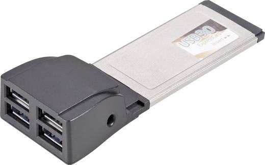 Conrad 4-poorts USB 3.0 Express-kaart