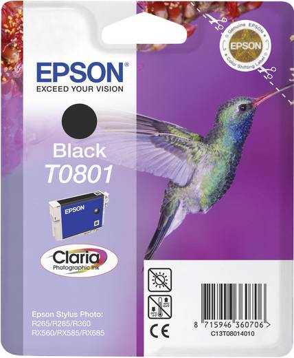 Epson Inkt T0801 Origineel Zwart C13T08014011