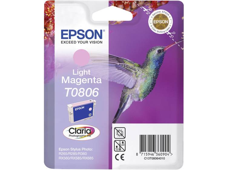 Epson Inkt T0806 Origineel Lichtmagenta C13T08064011
