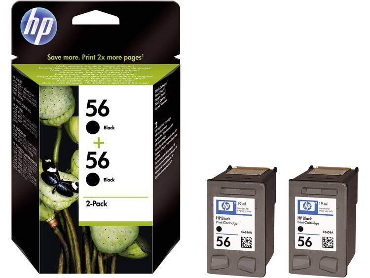 HP Inkt 56 Origineel 2-pack Zwart C9502AE