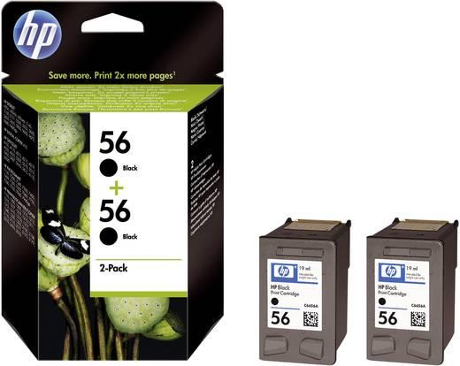 HP Inkt 56 + 56 Origineel 2-pack Zwart C9502AE