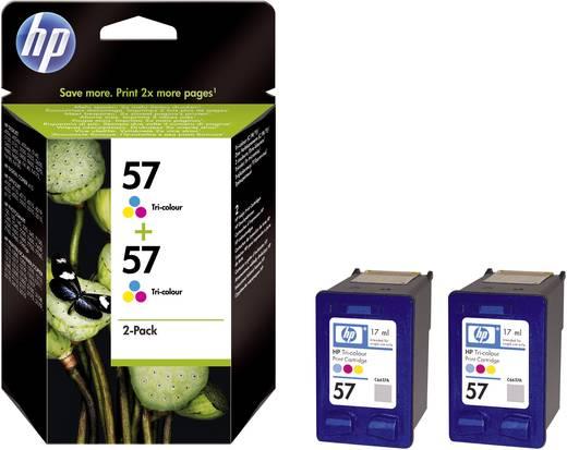 HP Inkt 57 + 57 Origineel 2-pack Cyaan, Magenta, Geel C9503AE