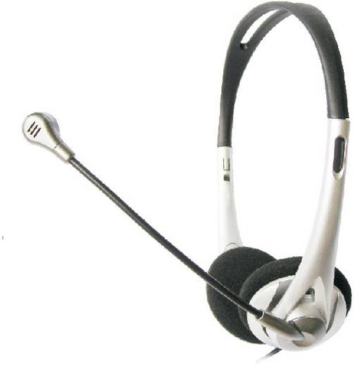 PC-headset 3.5 mm jackplug Kabelgebonden, Stereo